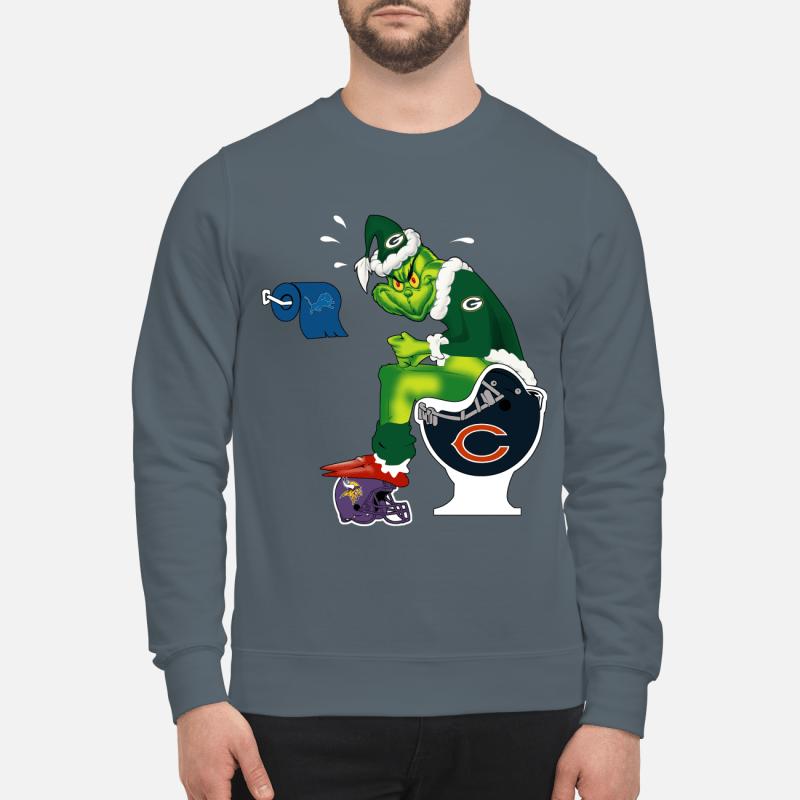 The Grinch Toilet Green Bay Packers Minnesota Vikings Chicago Bears Detroit Lions sweartshirt