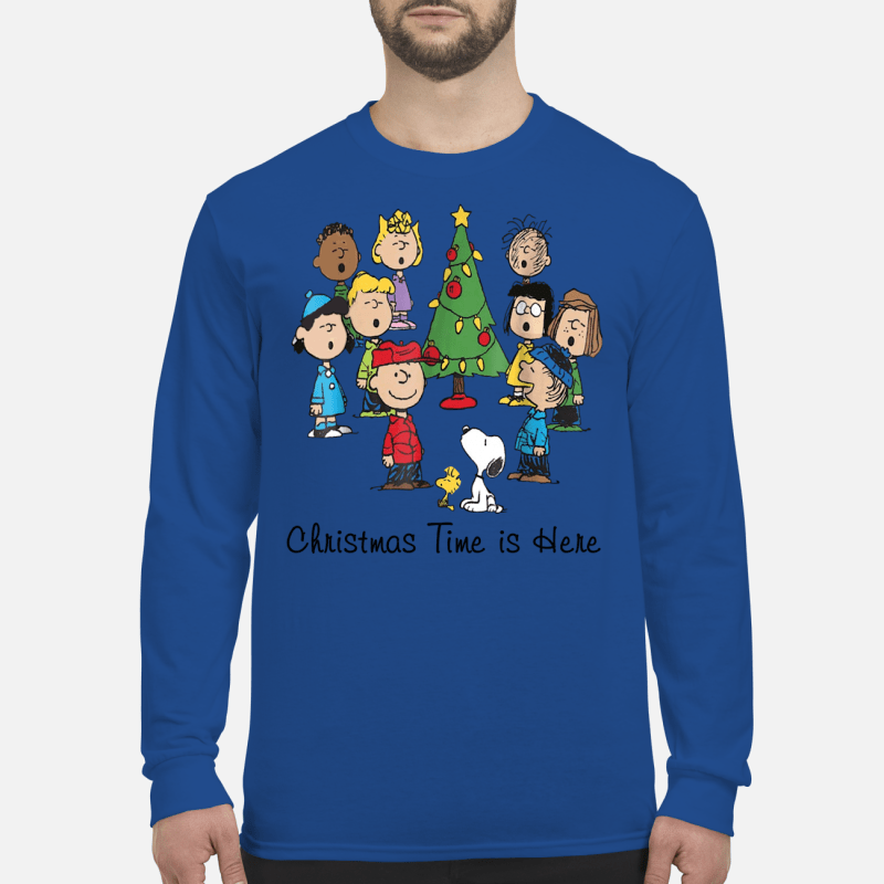 The Peanuts Gang Christmas time is here long sleeved