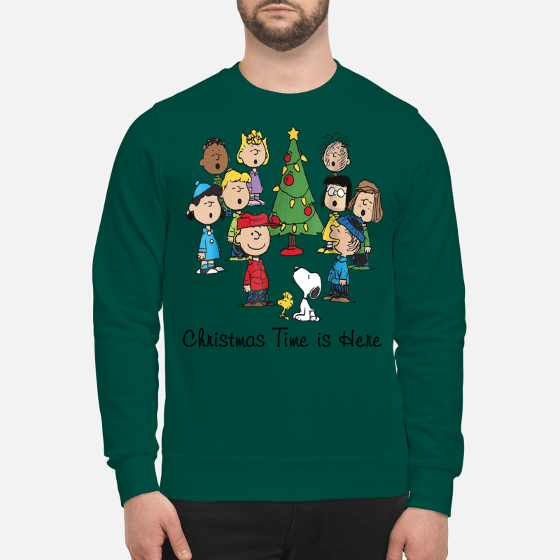 The Peanuts Gang Christmas time is here sweartshirt