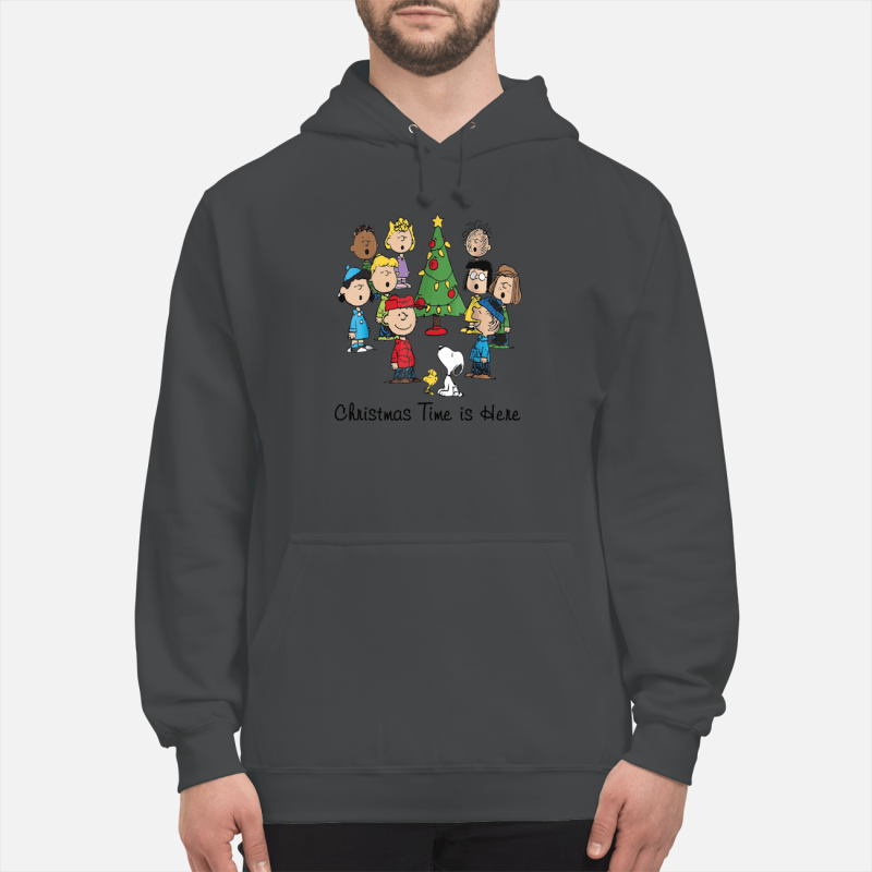 The Peanuts Gang Christmas time is here unisex hoodie
