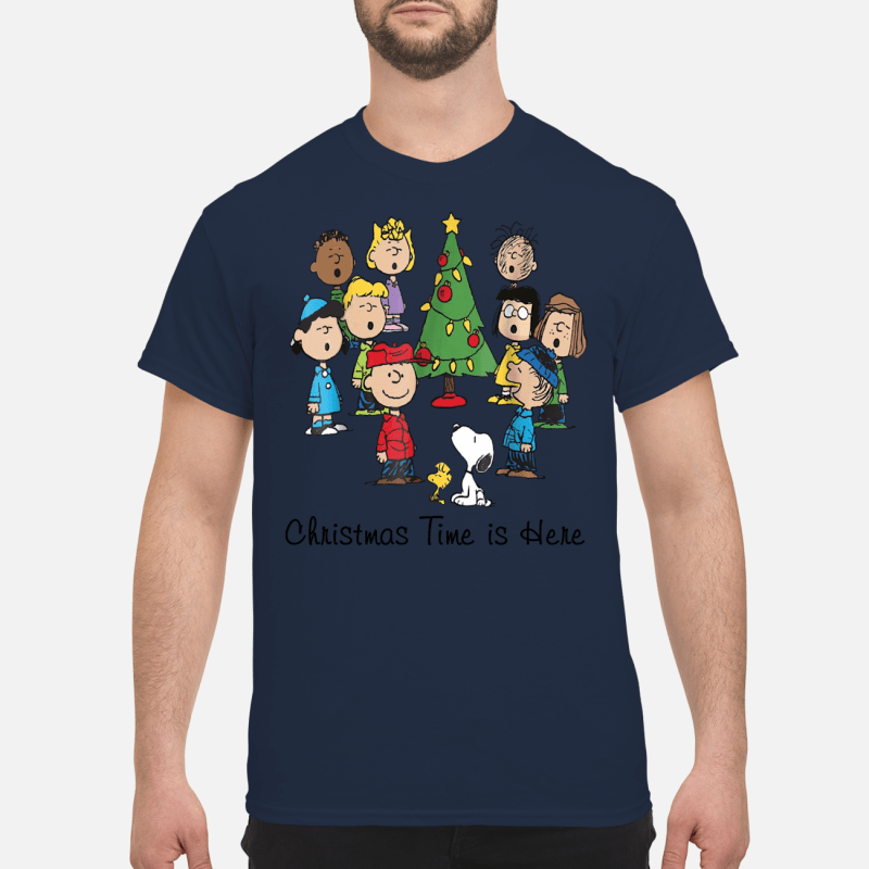 The Peanuts Gang Christmas time is here
