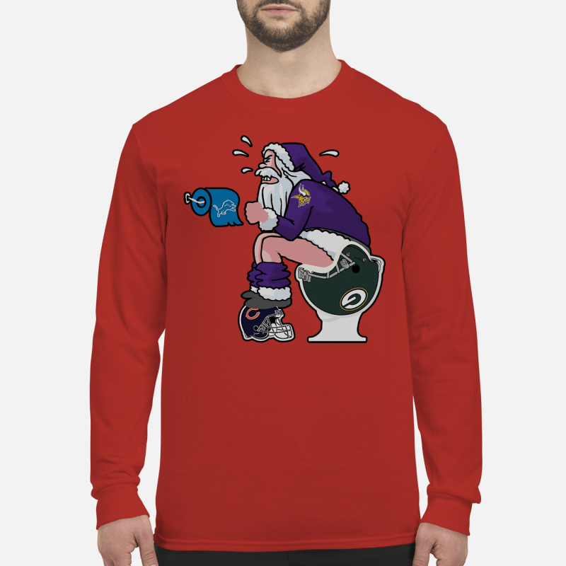 Vikings Santa Claus make shit toilet shirt and sweater long sleeved