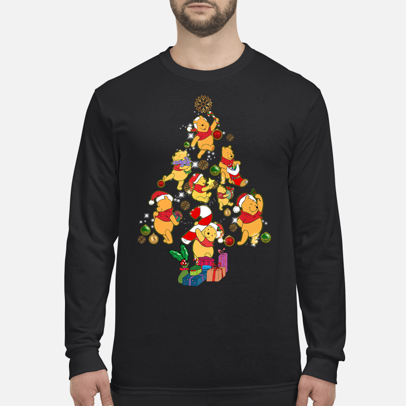 Winnie The Pooh Christmas tree sweater long sleeved