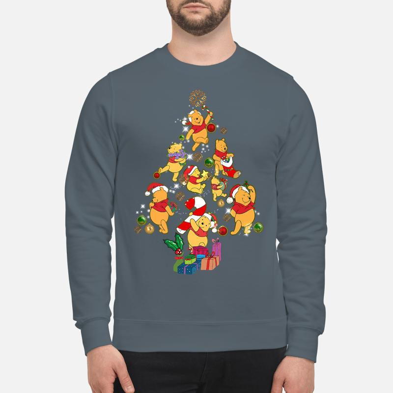 Winnie The Pooh Christmas tree sweater sweartshirt