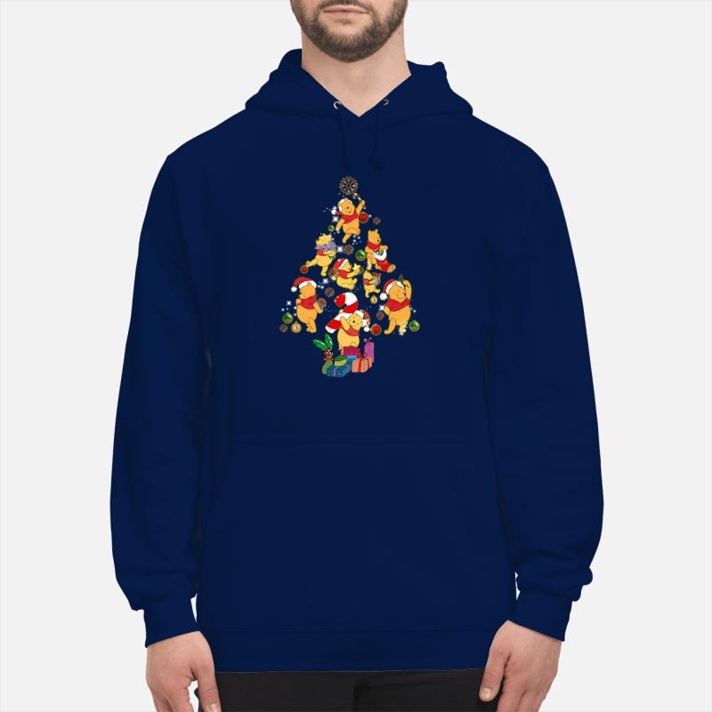 Winnie The Pooh Christmas tree sweater unisex hoodie