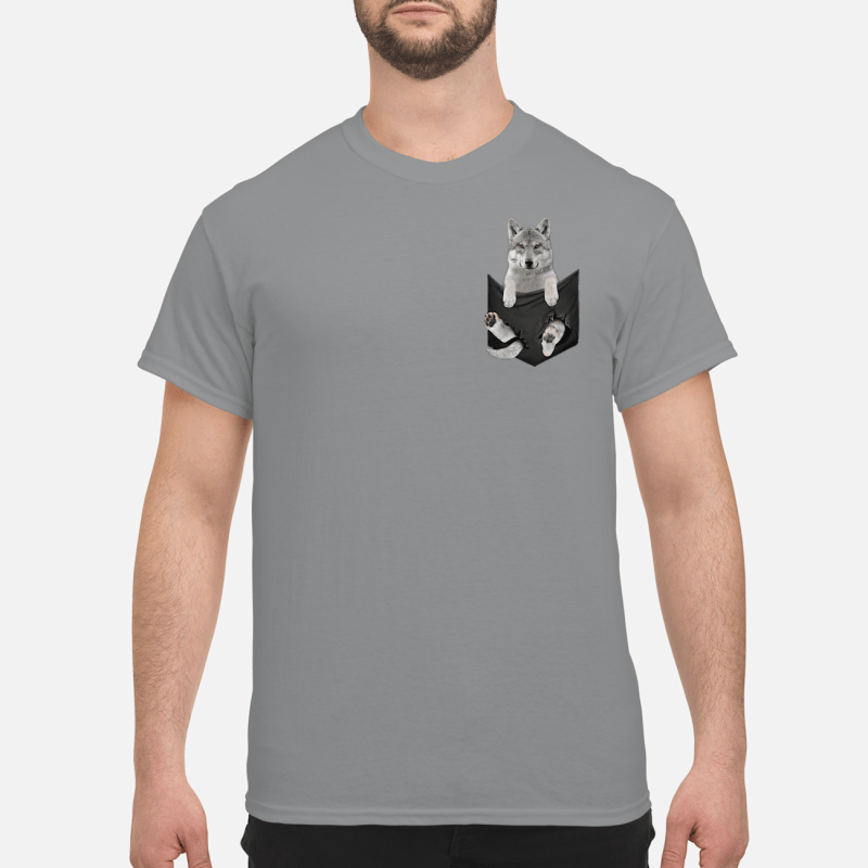 Wolf pocket shirt