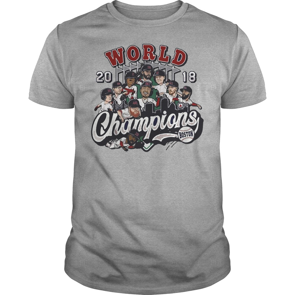 World 2018 Champion Boston darkgray shirt