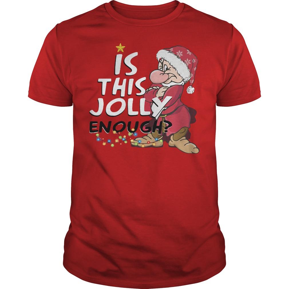 grumpy jolly enough christmas red shirt