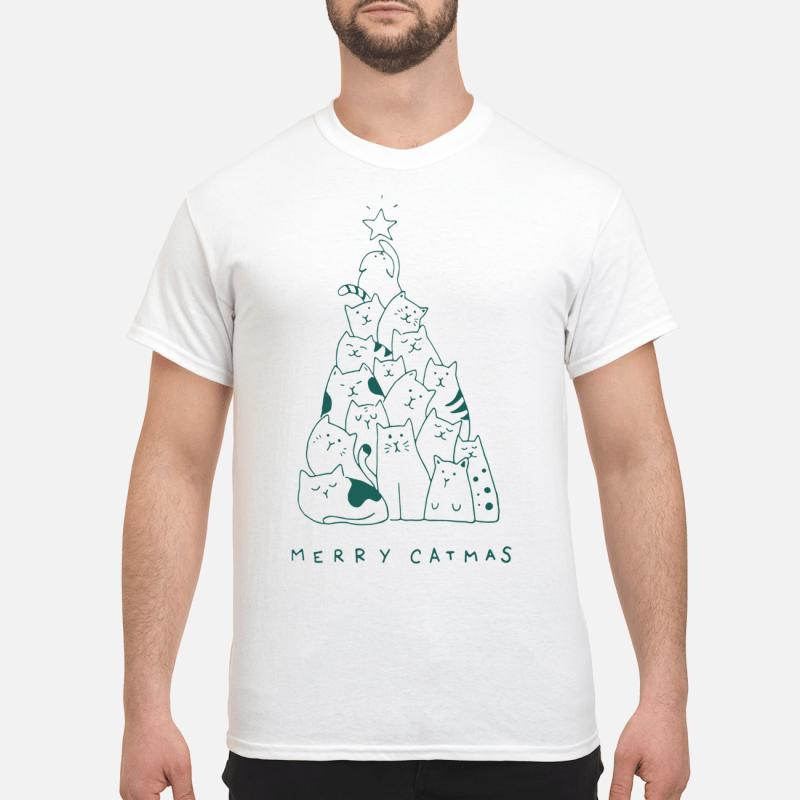 Merry Catmas Christmas tree shirt