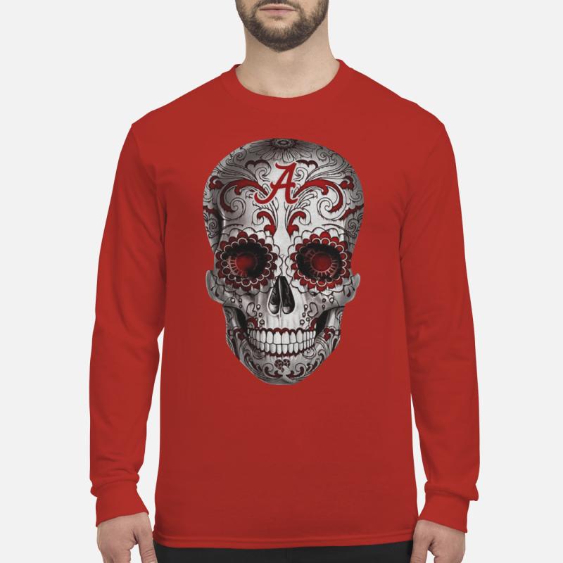 Alabama Crimson Tide Sugar Skull hoodie long sleeved