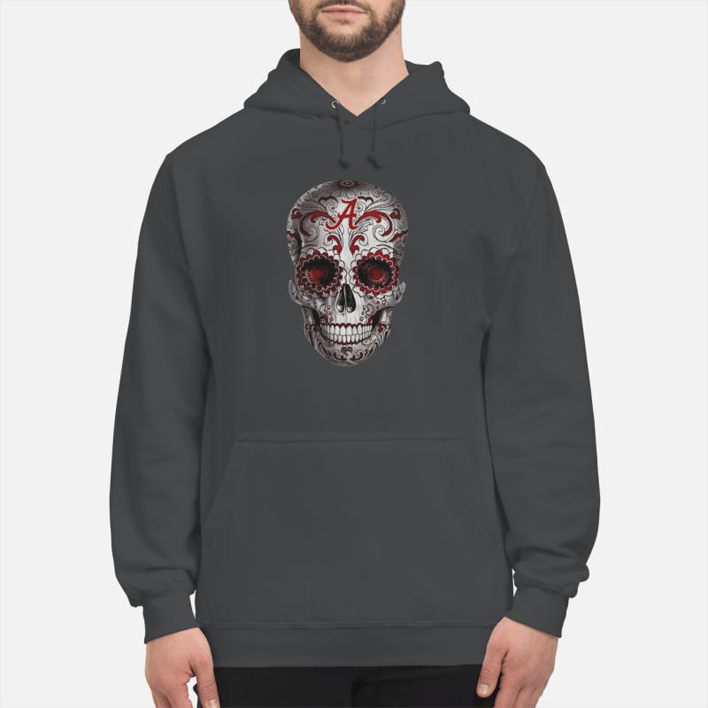 Alabama Crimson Tide Sugar Skull unisex hoodie