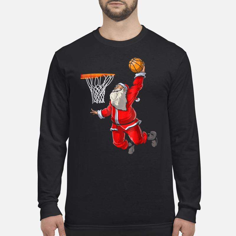 Basketball Santa Christmas hat ball sport shirt long sleeved