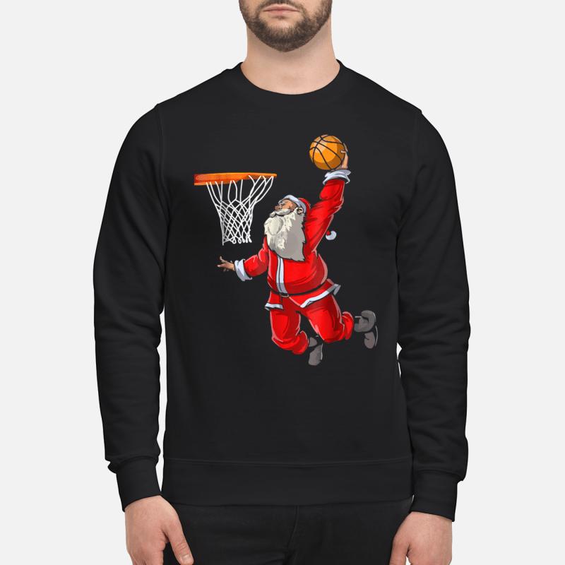 Basketball Santa Christmas hat ball sport shirt