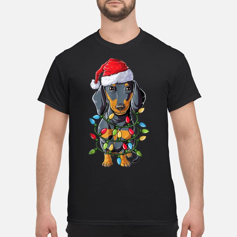 Dachshund Christmas Tree Lights sweater classic