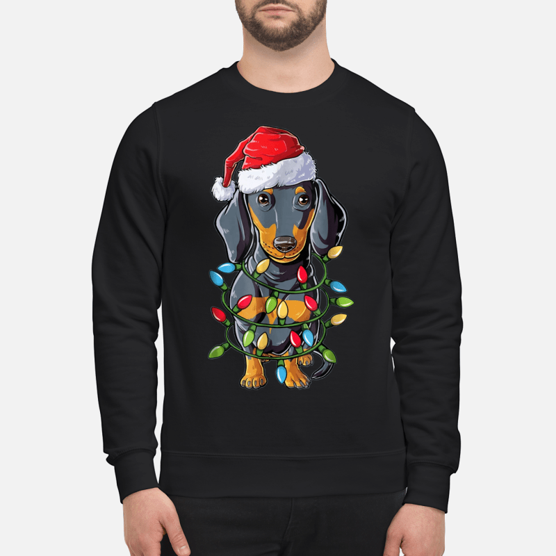 Dachshund Christmas Tree Lights sweater