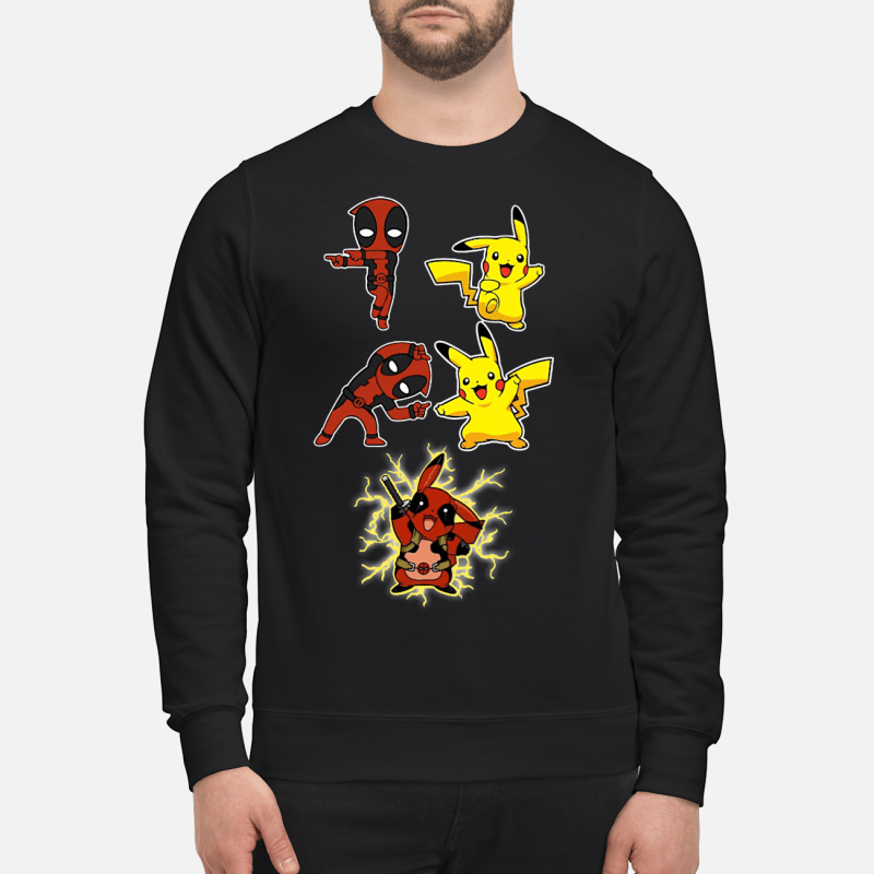 Deadpool And Pikachu Fusion Dance Pikapool sweartshirt