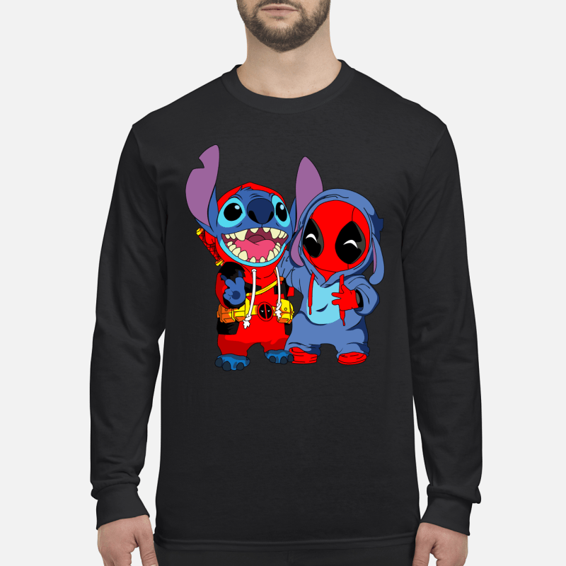 Deadpool and stich baby long sleeved