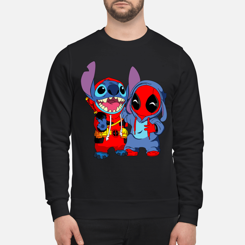 Deadpool and stich baby sweartshirt