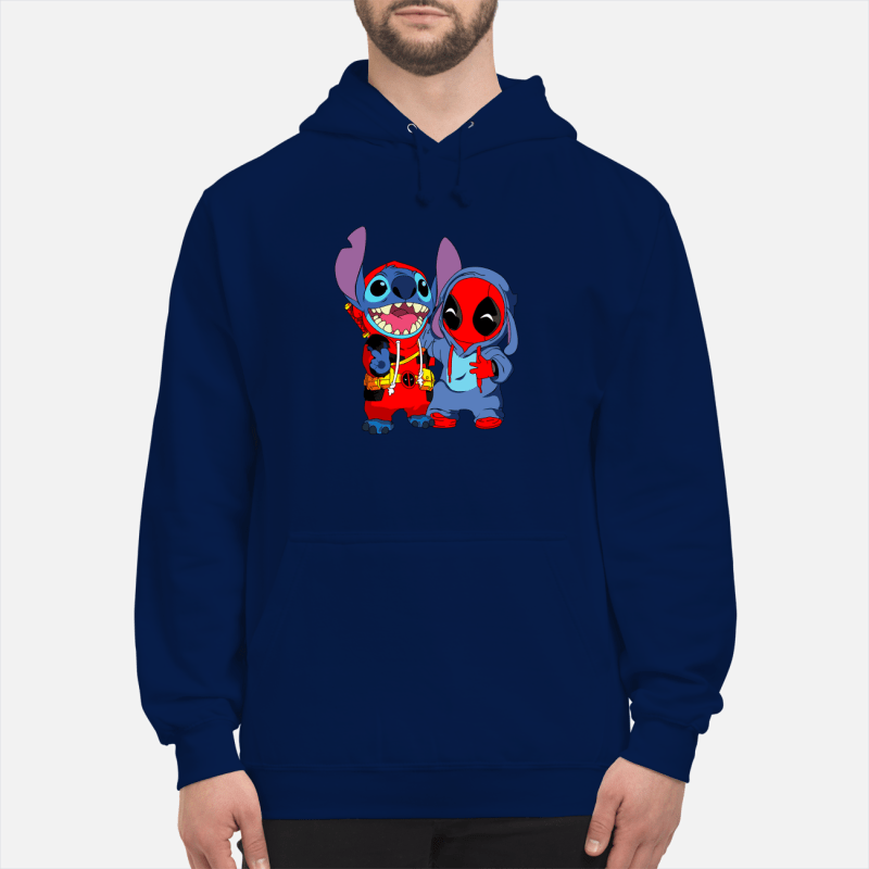 Deadpool and stich baby unisex hoodie