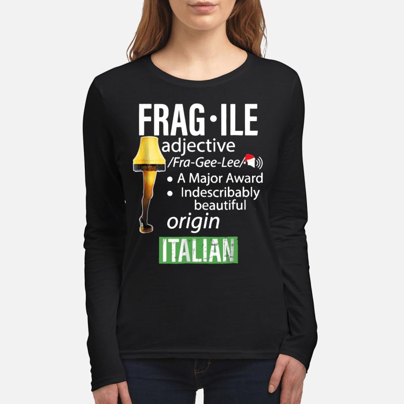 Fragile Major Award Leg Lamp long sleeved