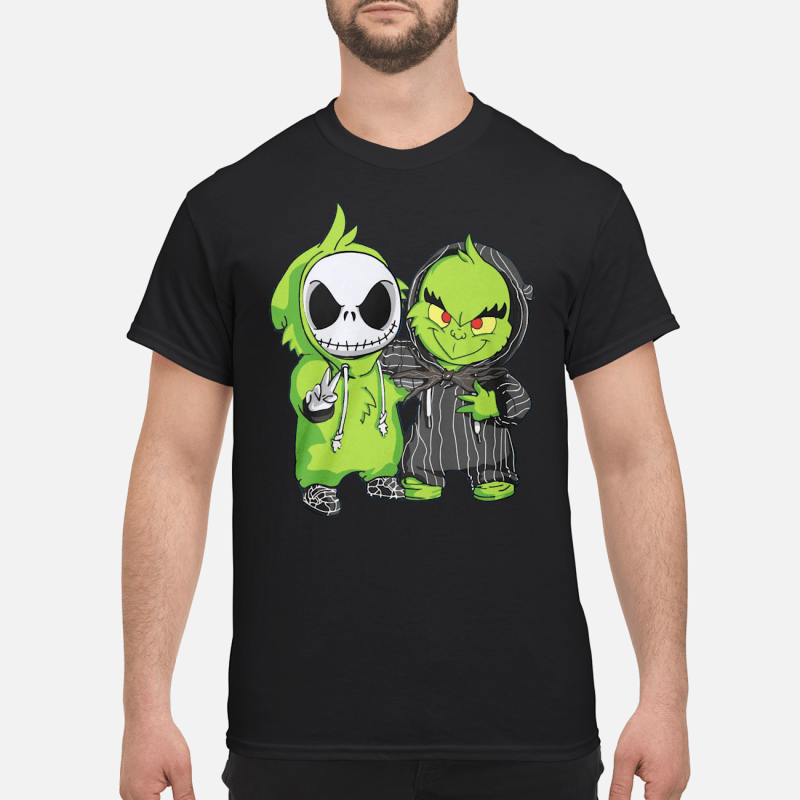 Grinch and Jack Skellington shirt classic