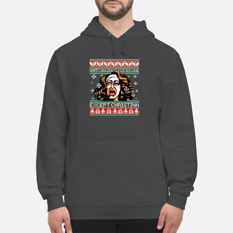 Happy holidays to everyone except Christina Christmas sweater unisex hoodie