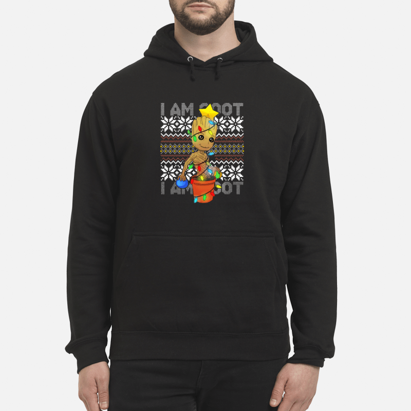 I Am Grootmas Groot Christmas unisex hoodie