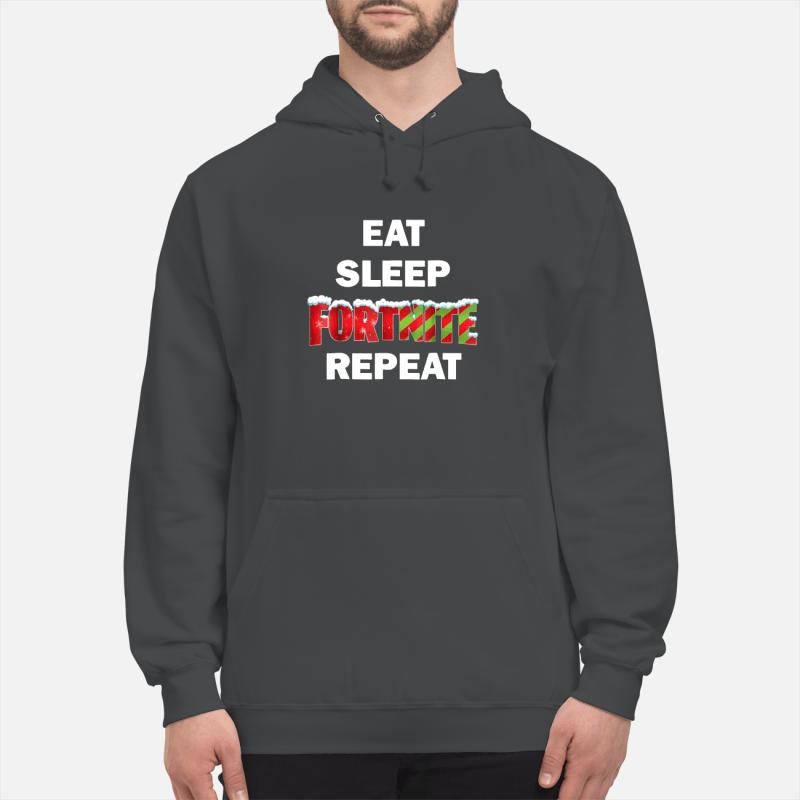 Merry Christmas Eat Sleep Fortnite Repeat hoodie sweater unisex hoodie