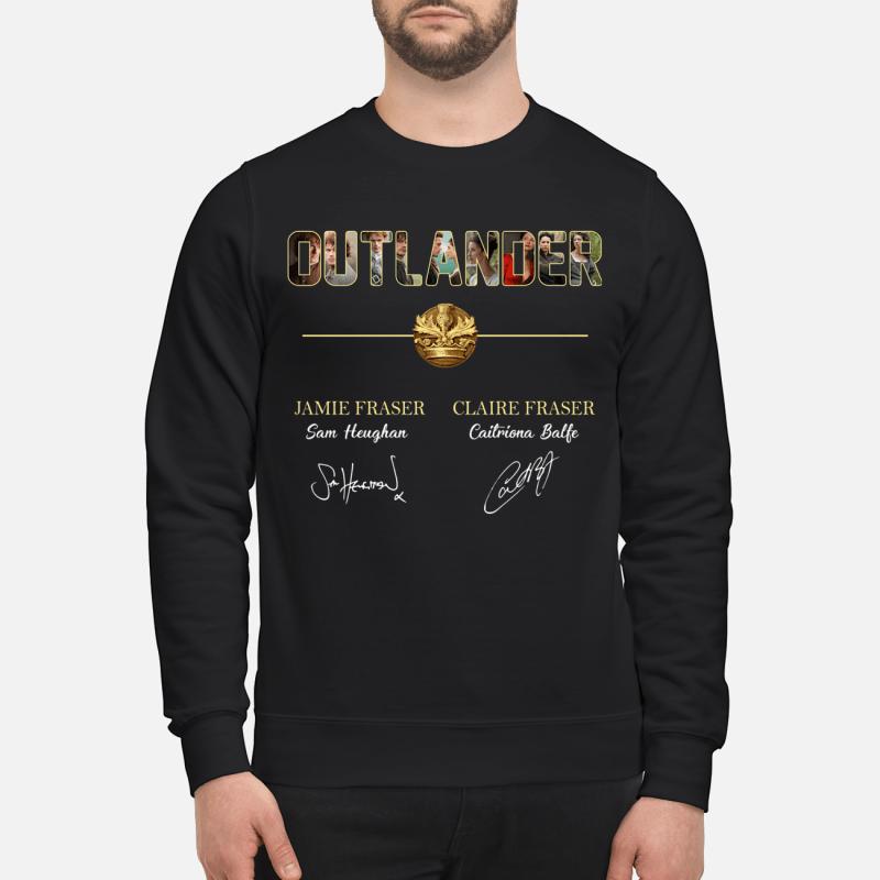 Outlander Jamie Fraser and Claire Fraser sweatshirt