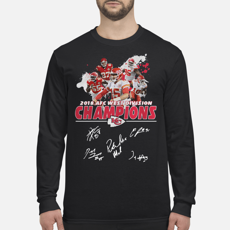 2018 AFC west division Champions Kansas City Chiefs kid long sleeved