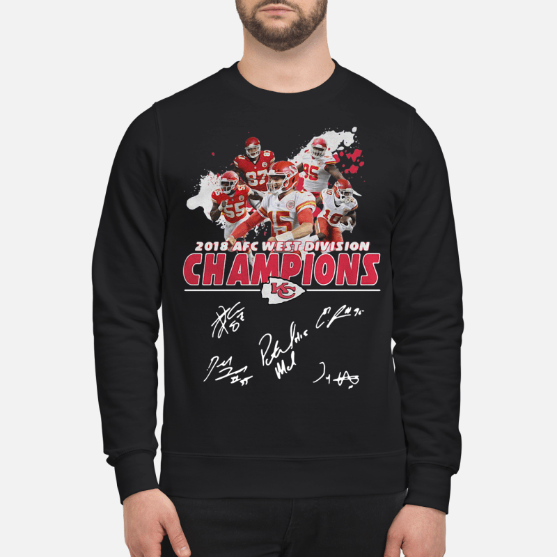 2018 AFC west division Champions Kansas City Chiefs kid sweatshirt