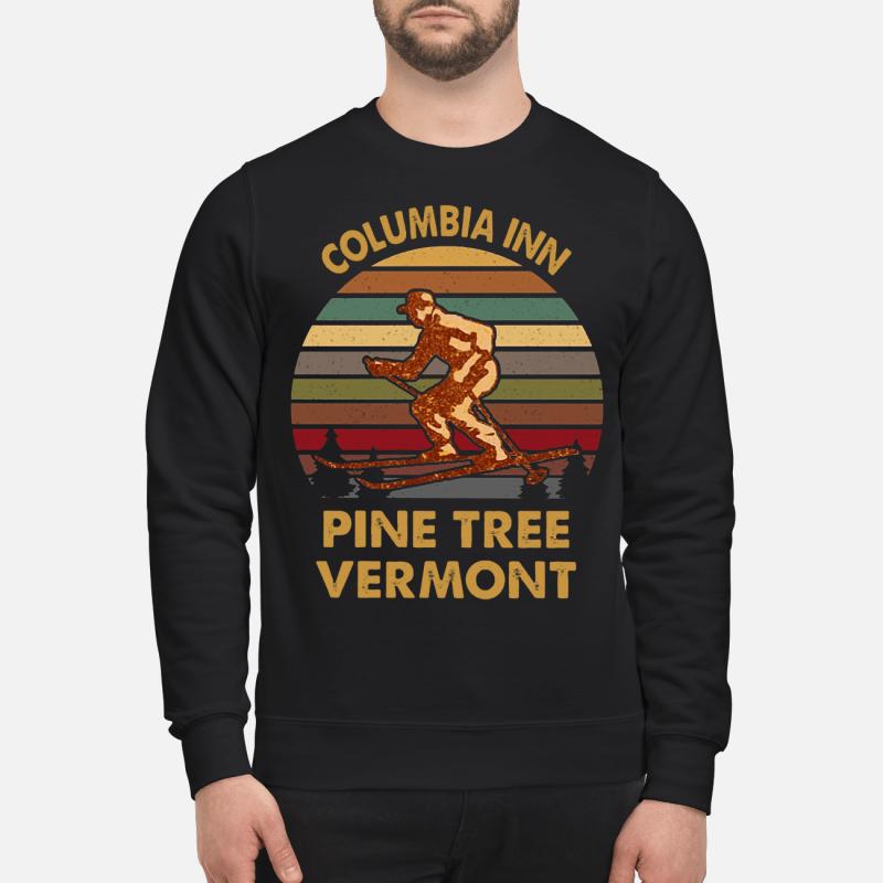 Columbia Inn pine tree Vermont sweatshirt