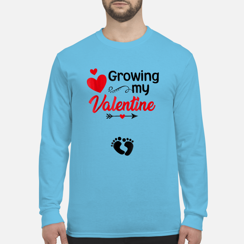 Growing my Valentine Tshirt for Wife Long sleeved
