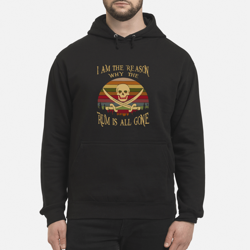 I am the reason why the rum is all gone Vintage kid hoodie