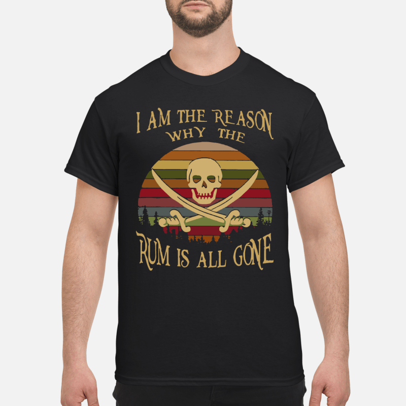 I am the reason why the rum is all gone Vintage kid shirt