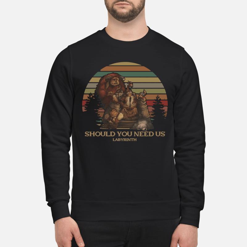 Should You Need Us Labyrinth Sweatshirt