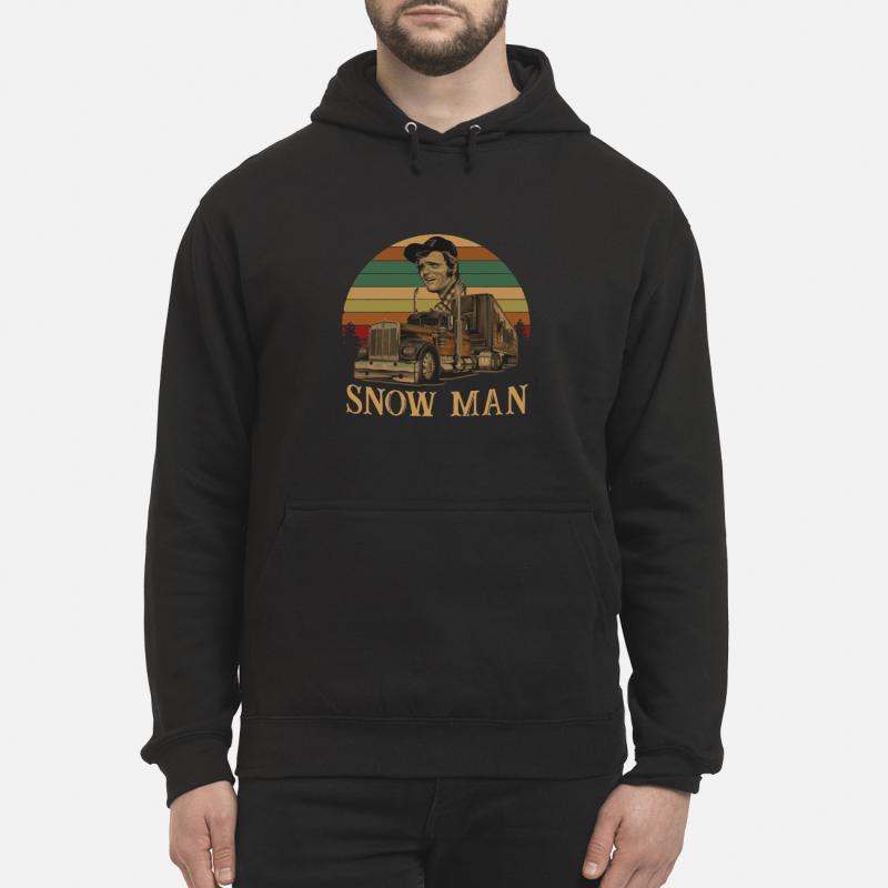 Smokey Snowman vintage kid hoodie