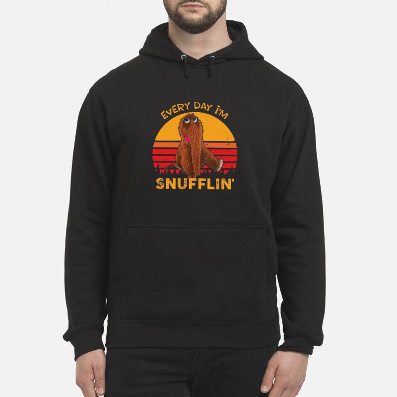 Snuffleupagus every day I'm Snufflin' kid hoodie