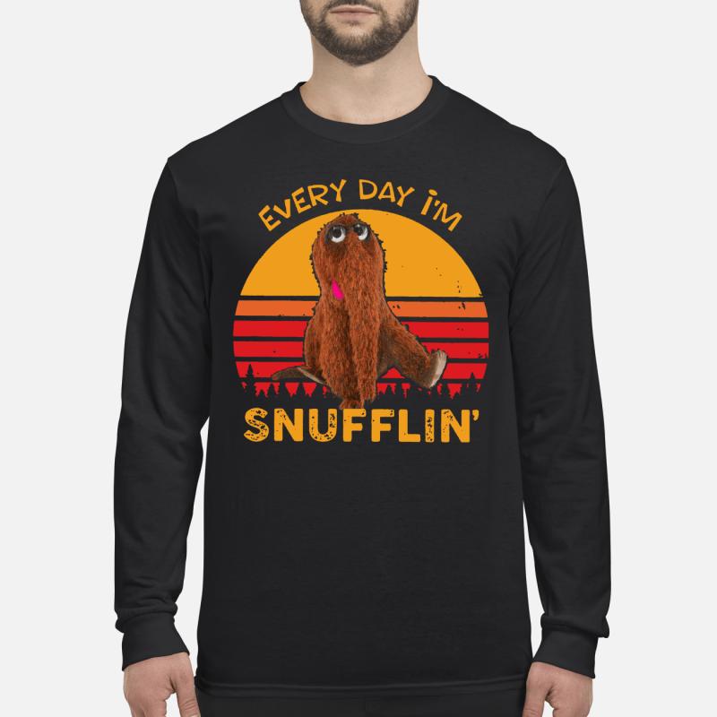 Snuffleupagus every day I'm Snufflin' kid long sleeved