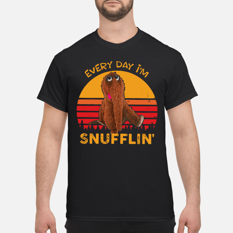 Snuffleupagus every day I'm Snufflin' kid shirt