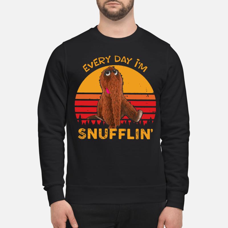 Snuffleupagus every day I'm Snufflin' kid sweatshirtSnuffleupagus every day I'm Snufflin' kid sweatshirt