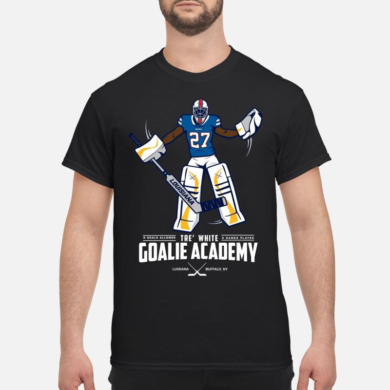 Tre white goalie academy kid shirt