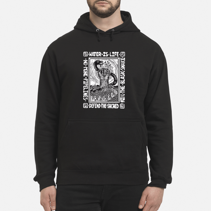 Water is life kill the blask snake defend the sacaed hoodie