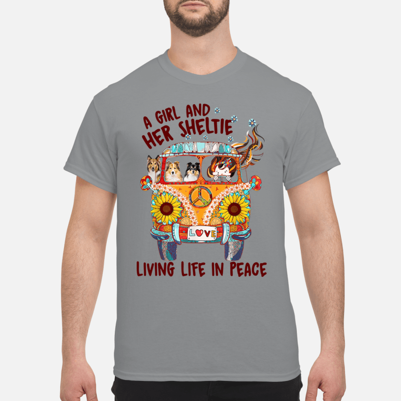 A girl and her sheltie living life in peace Shirt
