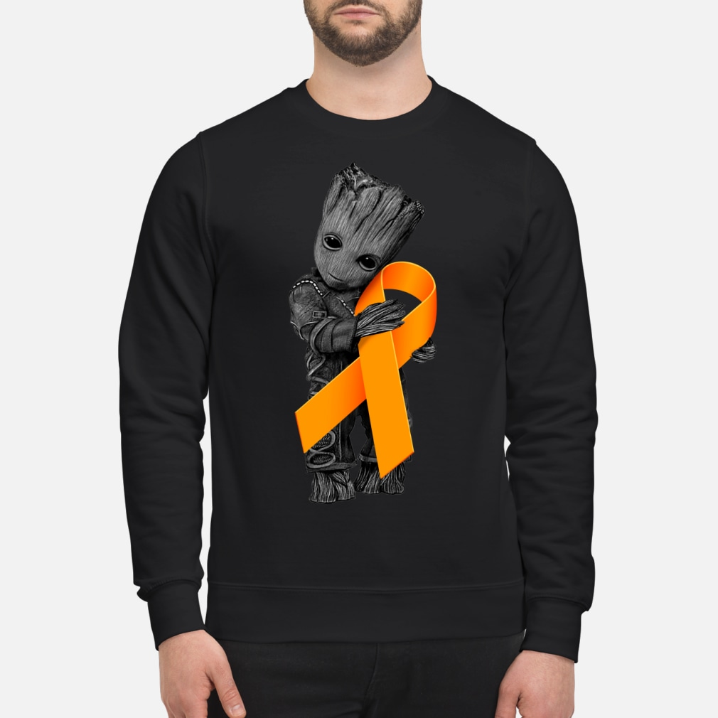 Baby Groot Hugging Orange Ribbon shirt sweater