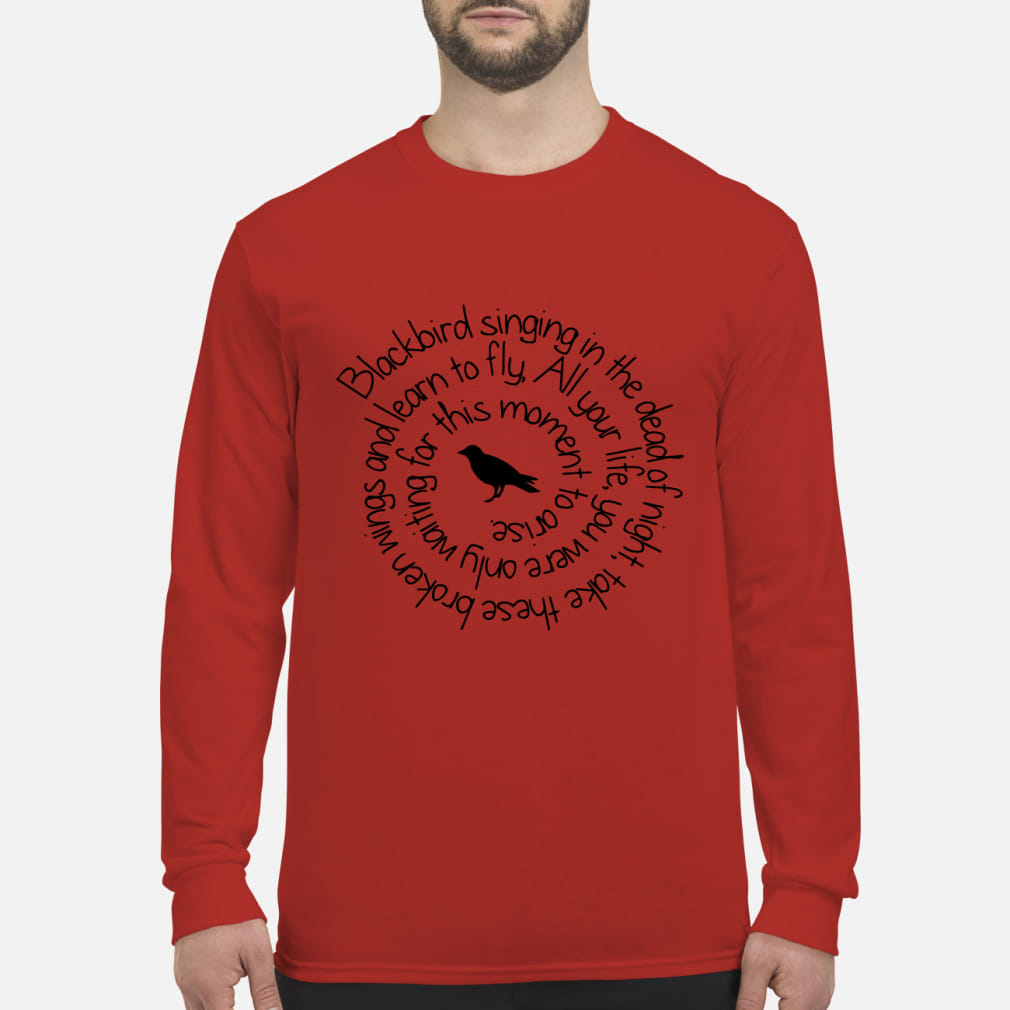 c33820512a Blackbird singing in the dead of night kid shirt long sleeved