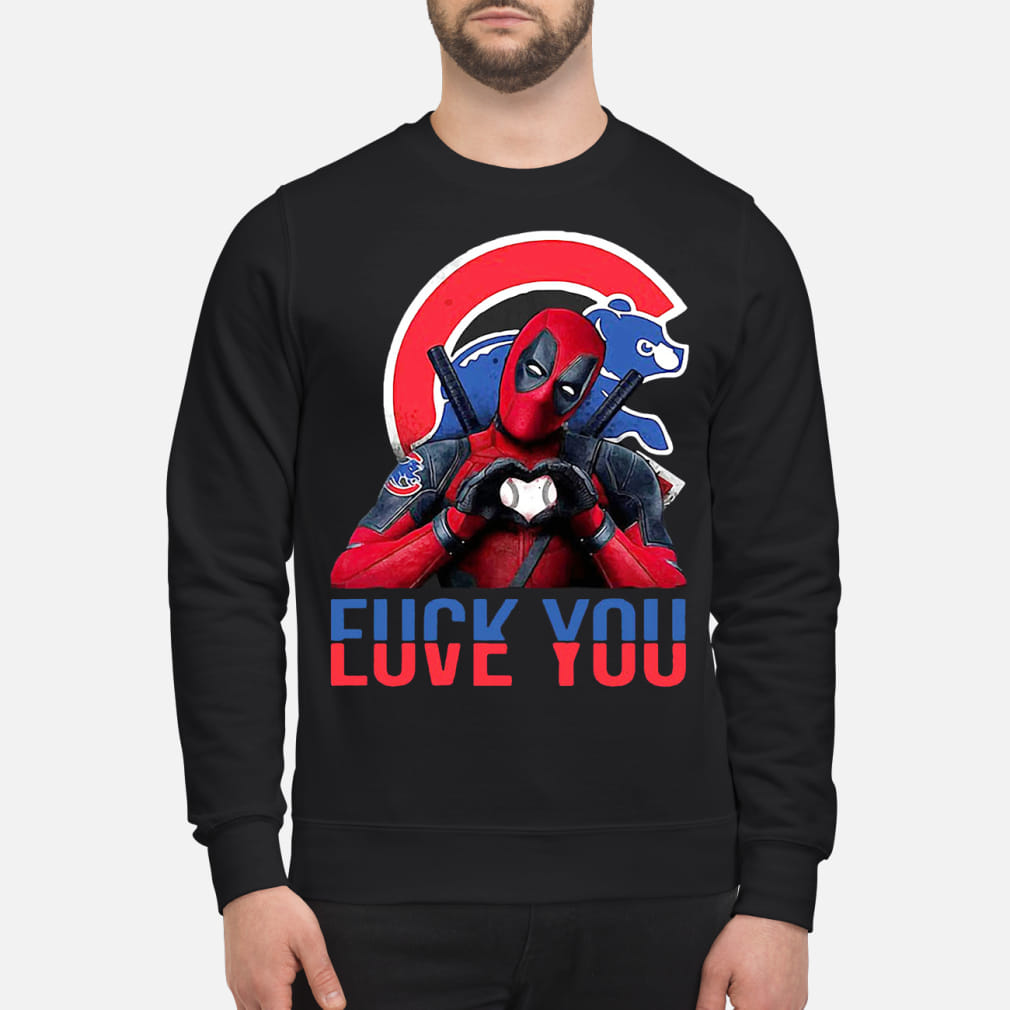 Deadpool Fuck you Chicago Cubs Bears Men shirt sweater