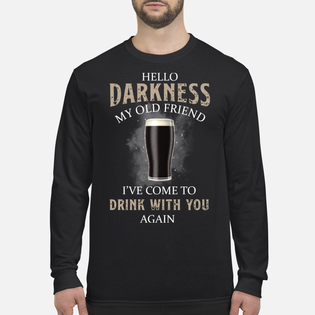 Hello my old friend I've come to drink with you kid shirt Long sleeved