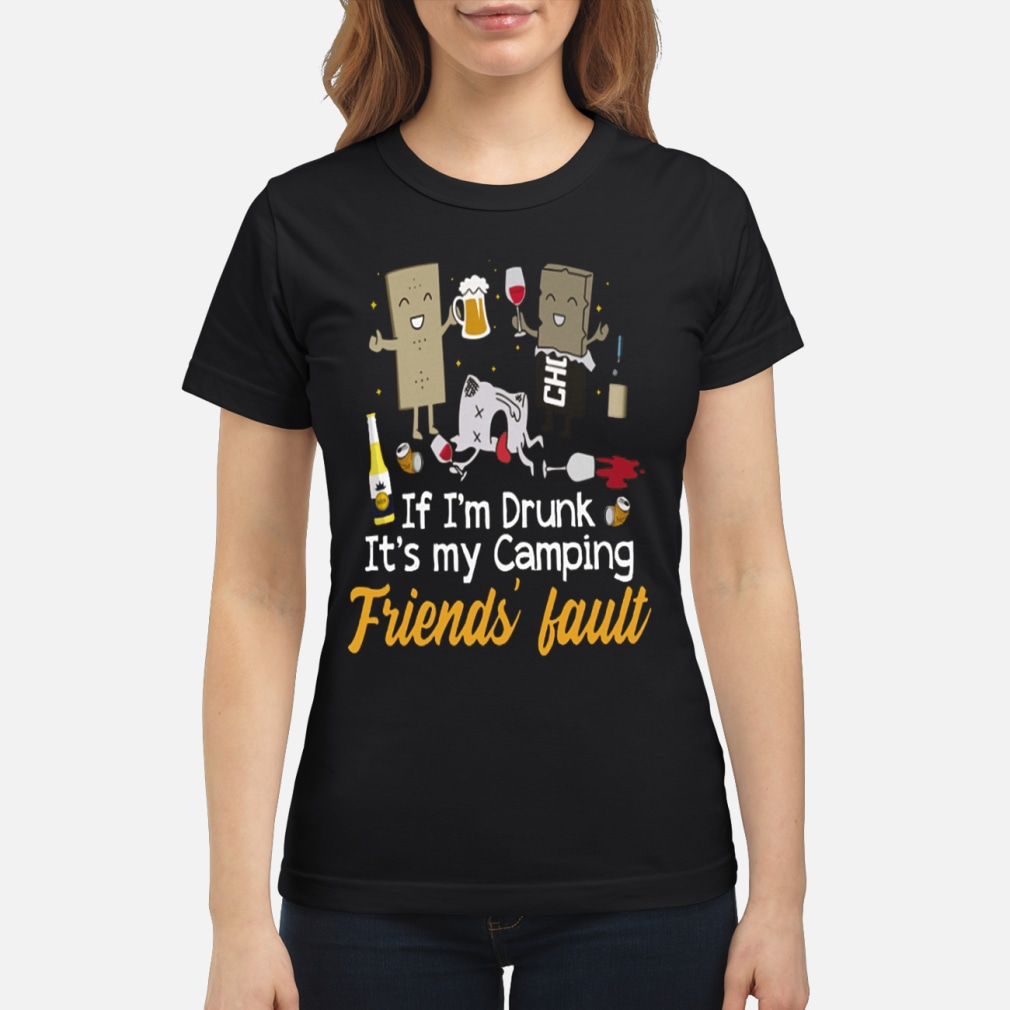 If I'm Drunk It's My Fault kid shirt ladies tee