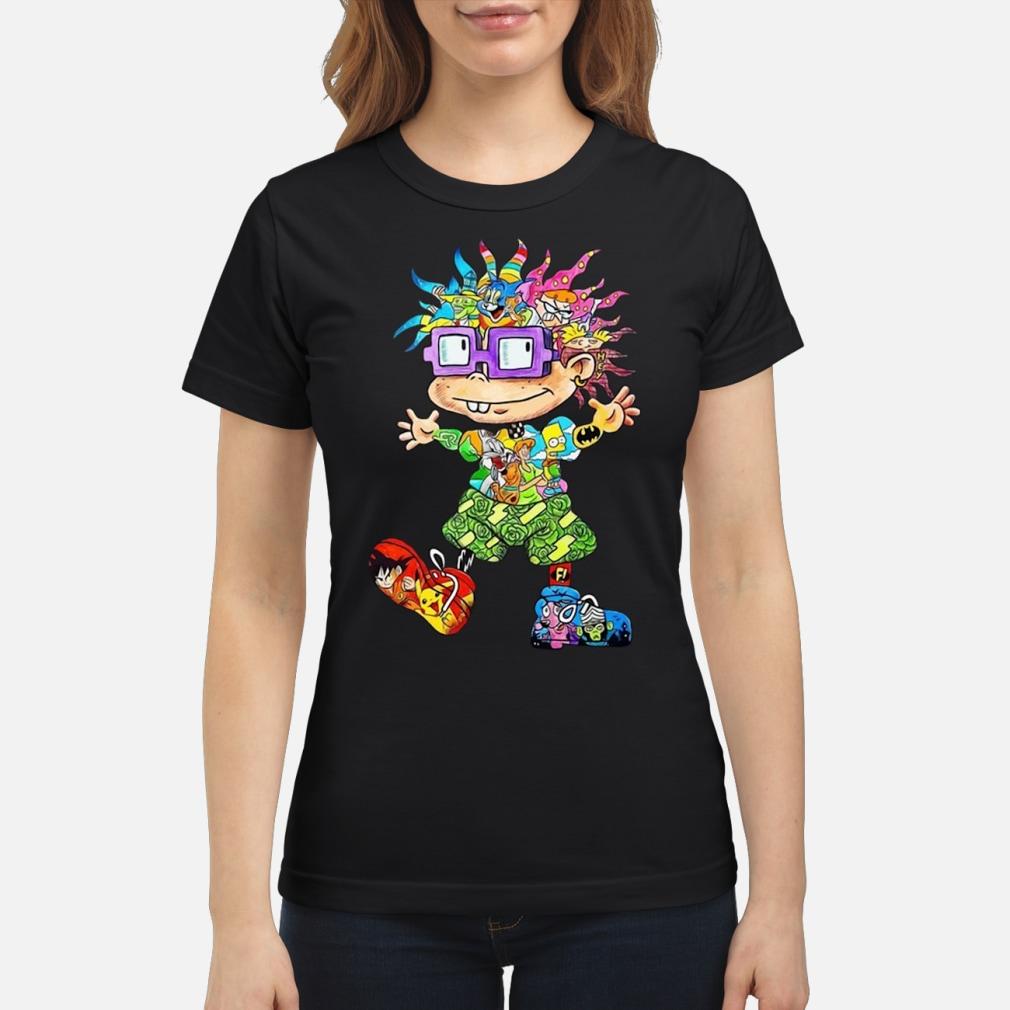 Rugats Chuckie 90s Cartoons shirt ladies tee